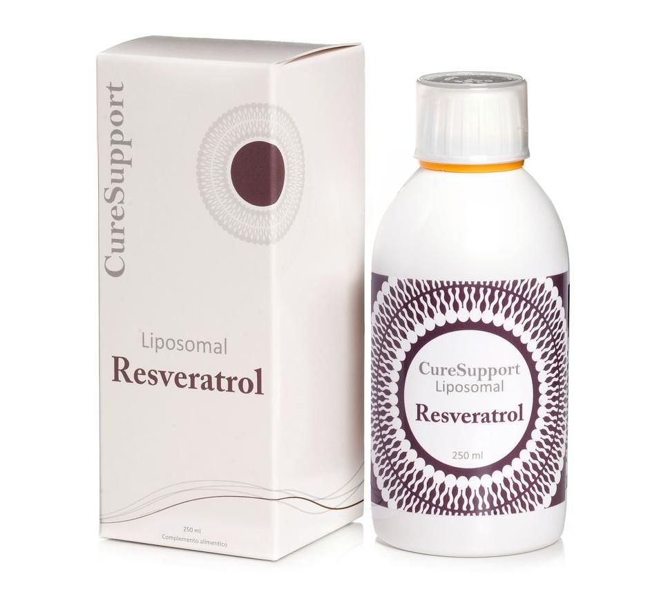 Resveratrol botella y caja